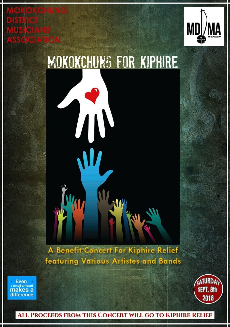 The Mokokchung District Musicians Association (MDMA) is organising a charity concert, 'Mokokchung for Kiphire', in aid of the affected people on September 8