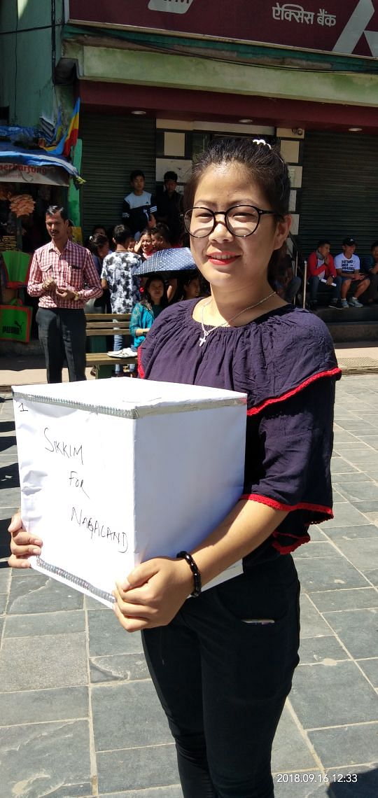 The 'Sikkim for Nagaland' campaign held in Central Park in Namchi, South Sikkim, on Sunday collected Rs 36,561 for the flood victims of Nagaland, say organisers