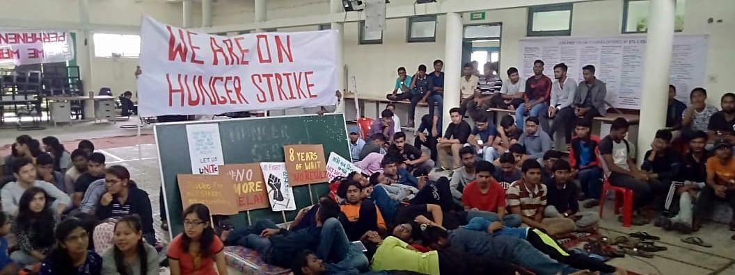 25 students of NIT Sikkim have been on hunger strike for the past three days