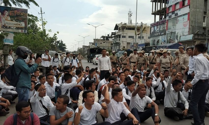 Manipur bandh called from tonight as students continue strike