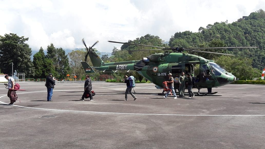 Army choppers rescue 60 tourists from landslides-hit North Sikkim