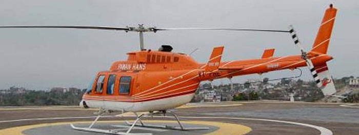 An eight-seater double-engine Pawan Hans helicopter has been pressed into service to allow puja revelers get an aerial view of the city during the festive season
