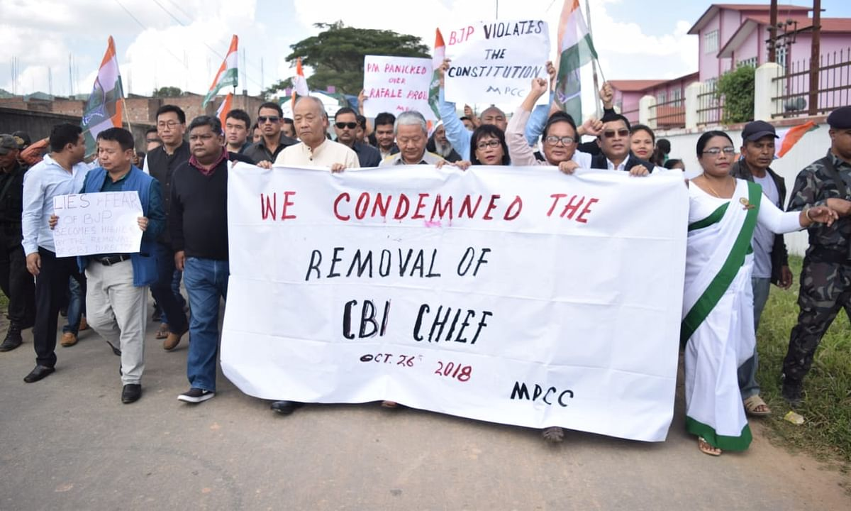 NE joins nationwide protests over ouster of CBI chief