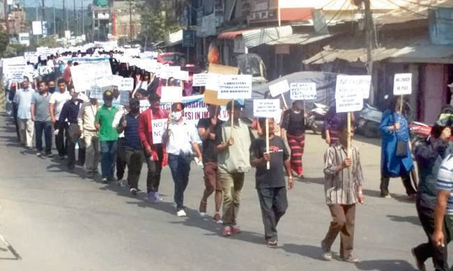 Manipur: Christian groups take to streets to protest 'favouritism'