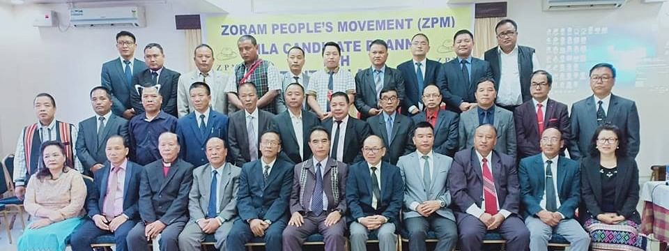 The 35 candidates announced by the Zoram People's Movement for the assembly elections in Mizoram last year. The alliance won eight seats