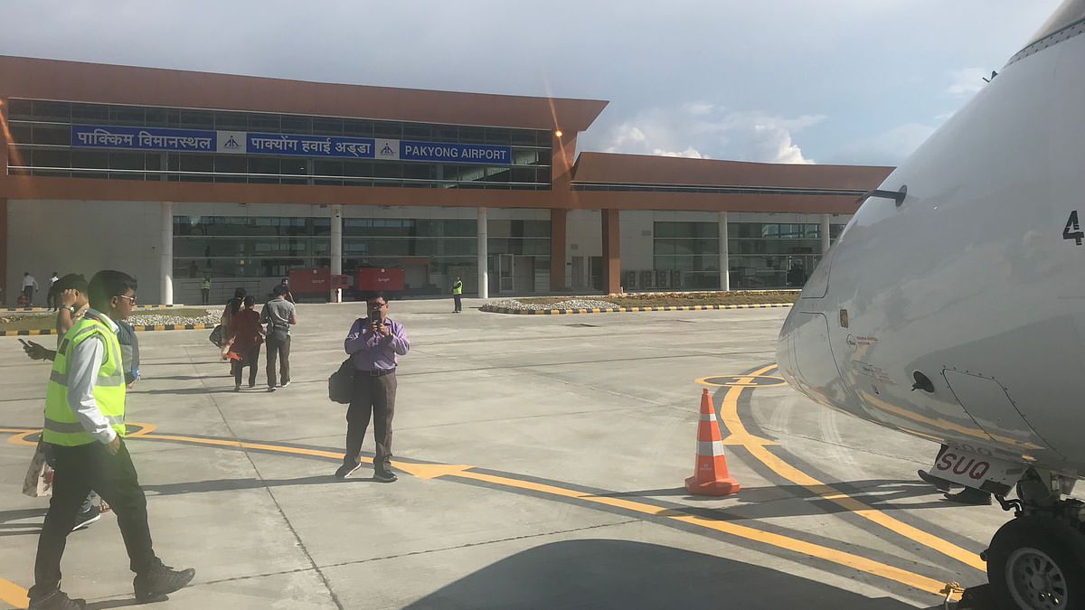 Sikkim: Frequent flight cancellations mar new airport in Pakyong