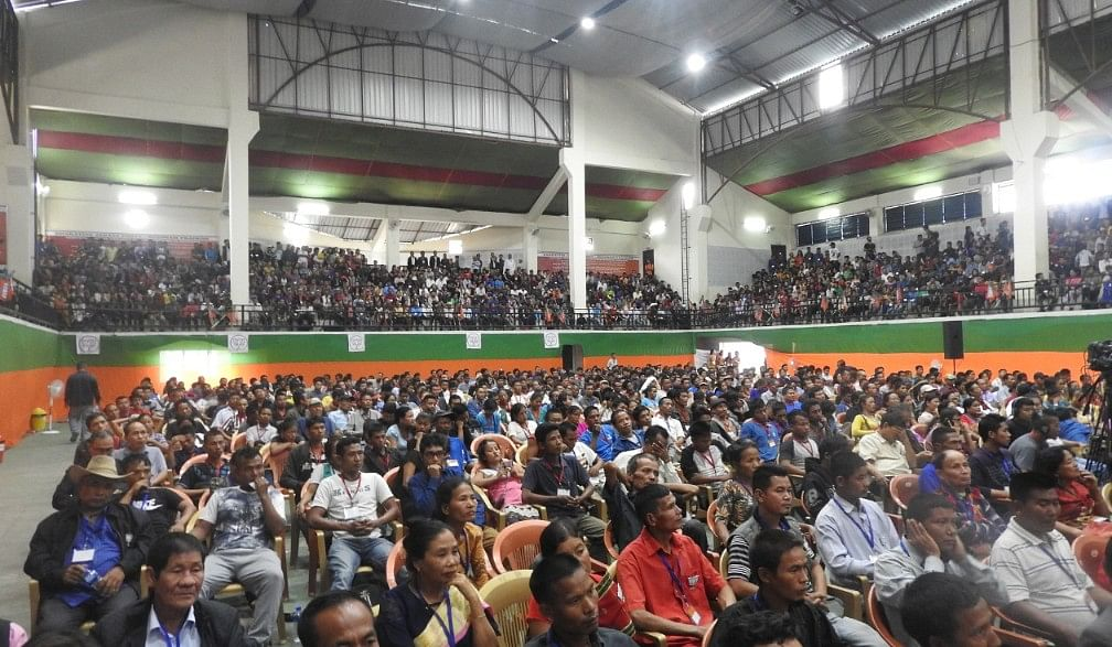 Booth-level BJP workers took part in large numbers at the meeting