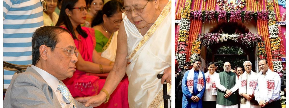 CJI Ranjan Gogoi's visit to Kamakhya temple in Guwahati on Wednesday morning coincided with that of BJP president Amit Shah