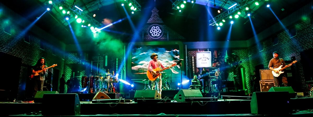 Assamese singer Zubeen Garg performing on the first day of NH7 Weekender on Friday