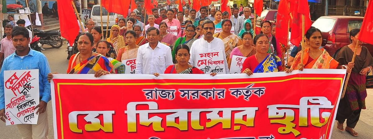 Opposition parties have vehemently opposed the Tripura government's decision to drop May Day from the list of state holidays