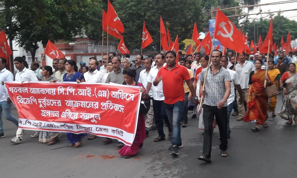 Tripura: CPI-M holds rally to protest attack on MP