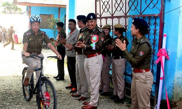 Manipur police gets its first cycle patrol unit