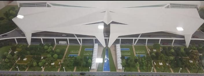 A 3D model of the upcoming integrated terminal area at Guwahati's LGBI Airport