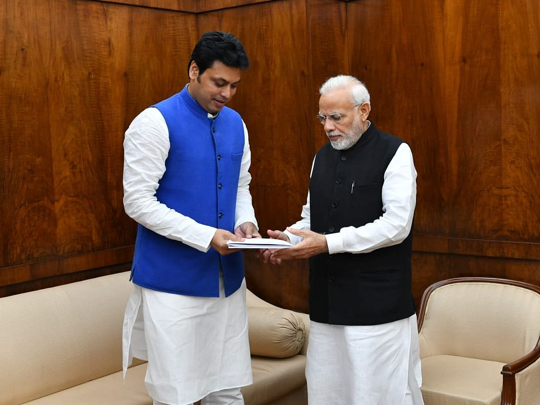 Tripura CM wants special package to complete projects, meets PM