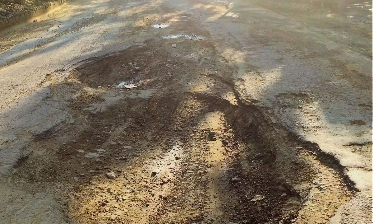 Mizoram: These potholes on NH-306 will put moon's craters to shame