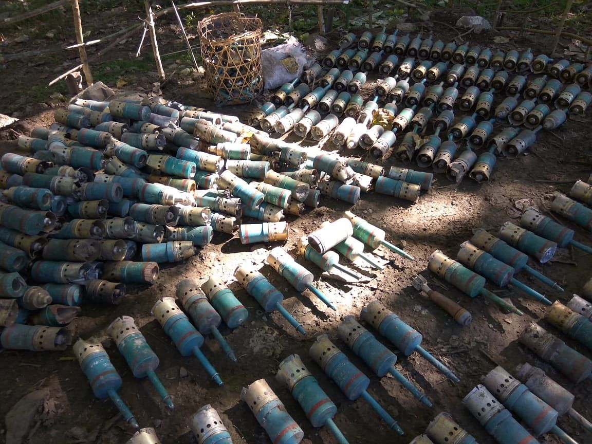 Altogether 554 shells were destroyed by the Army at the Nara Tidding firing range in Anjaw district of Arunachal Pradesh