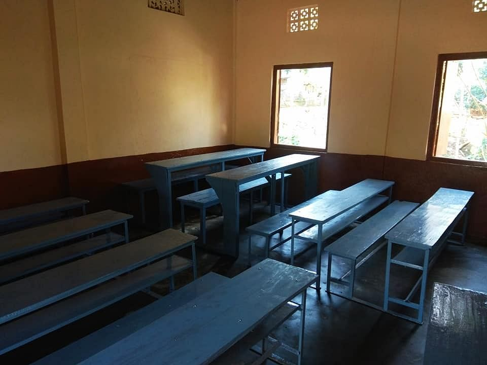 A renovated classroom of the Songadinggre Lower Primary School in Dadenggre in Meghalaya's West Garo Hills
