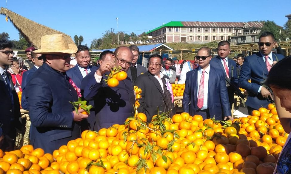 Manipur CM assures orange growers to provide all necessary help