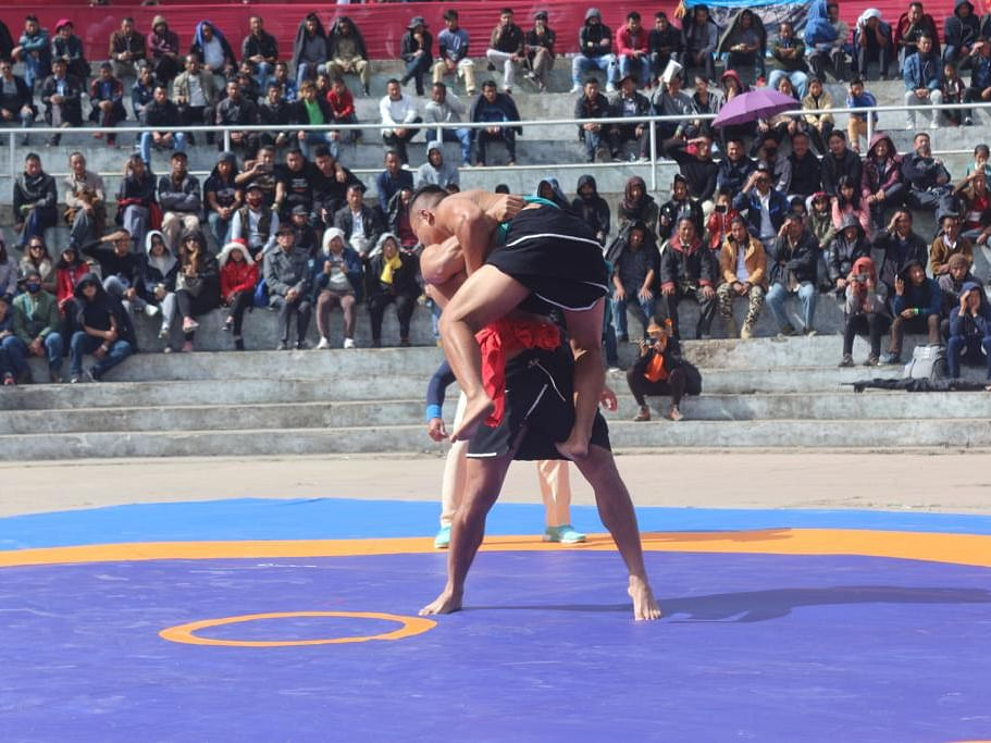How this indigenous Naga wrestling act won hearts at Hornbill Fest