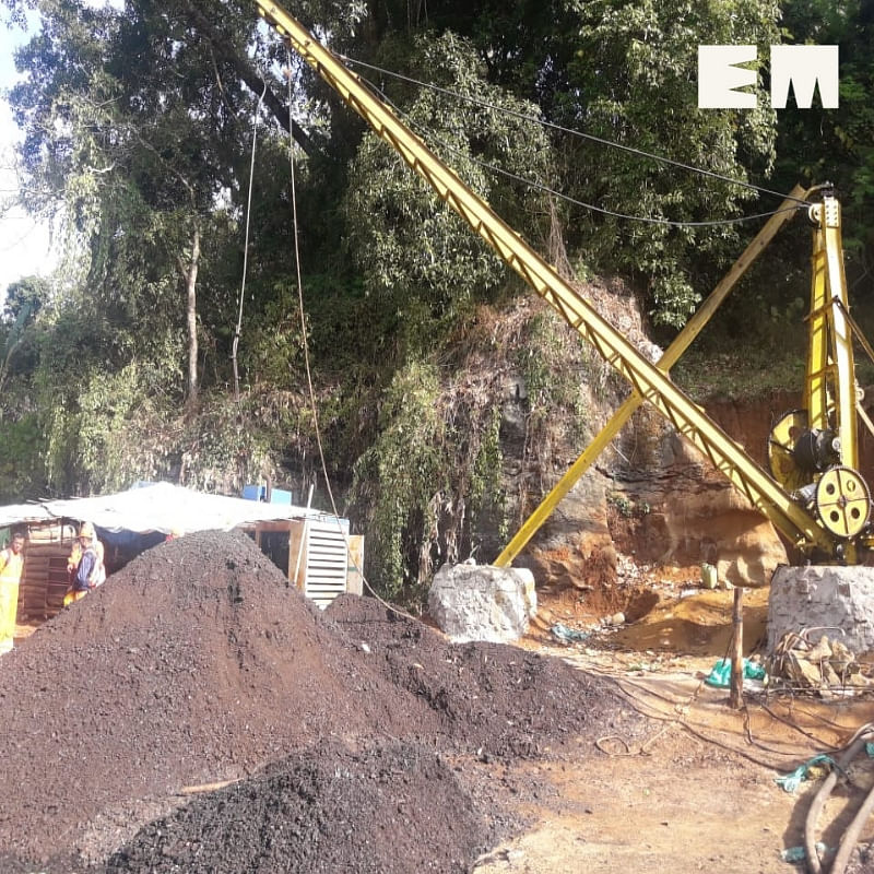 Rescue operations underway at the illegal coal mine in East Jaintia Hills in Meghalaya where 15 miners are trapped since December 13 last year