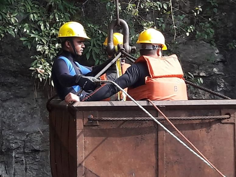 River water flowing into Meghalaya mine coming in way of rescue op