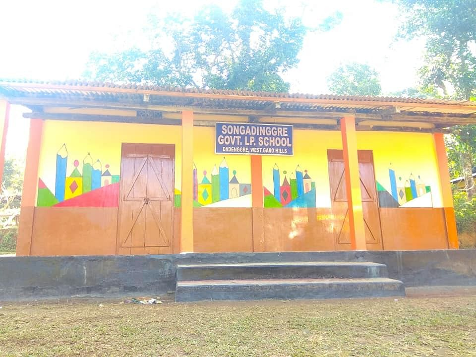 The Songadinggre Lower Primary School located in Dadenggre in Meghalaya's West Garo Hills after it was 'adopted' by Swapnil Tembe