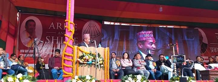 Sikkim Krantikari Morcha (SKM) leader PS Golay on the last day of the three-day-long 'Rolu Picnic' organised in Rolu, Sikkim on Friday