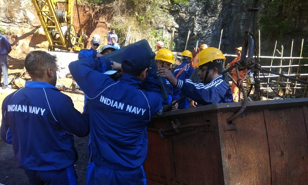 Meghalaya mishap: Navy team detects 4th body inside Ksan coal mine