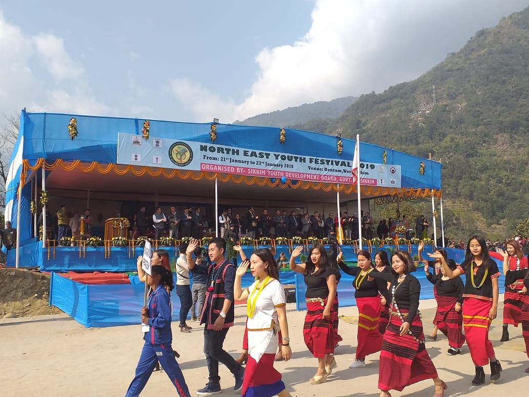 Representatives from all the Northeastern states are participating in the three-day festival in Dentam, West Sikkim