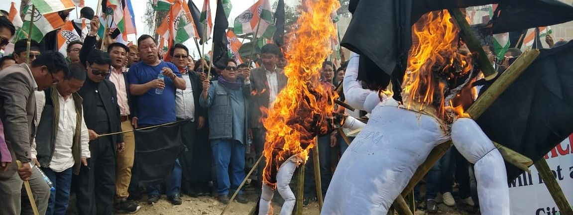 Cong supporters in Itanagar
