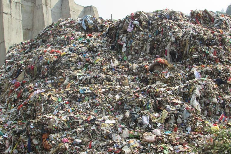 Gangtok's landfill in the hill state of Sikkim