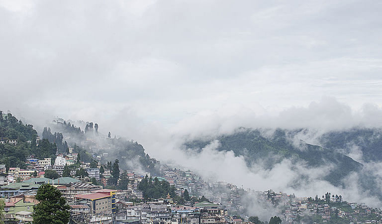 Darjeeling lies at an elevation of 2123 metres above sea level in the Indian state of West Bengal
