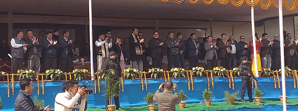Sikkim chief minister Pawan Chamling inaugurating the North East Youth Festival, 2019.