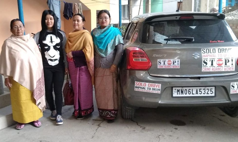 Manipur girl all set out for solo rally
