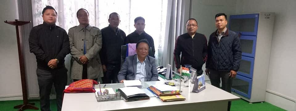 MZP leaders calling on K Lalrinliana in Aizawl on Monday
