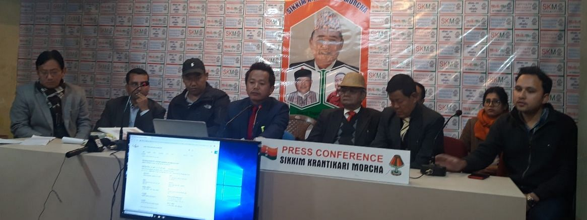 Sikkim Krantikari Morcha holds press conference against SDF's allegation