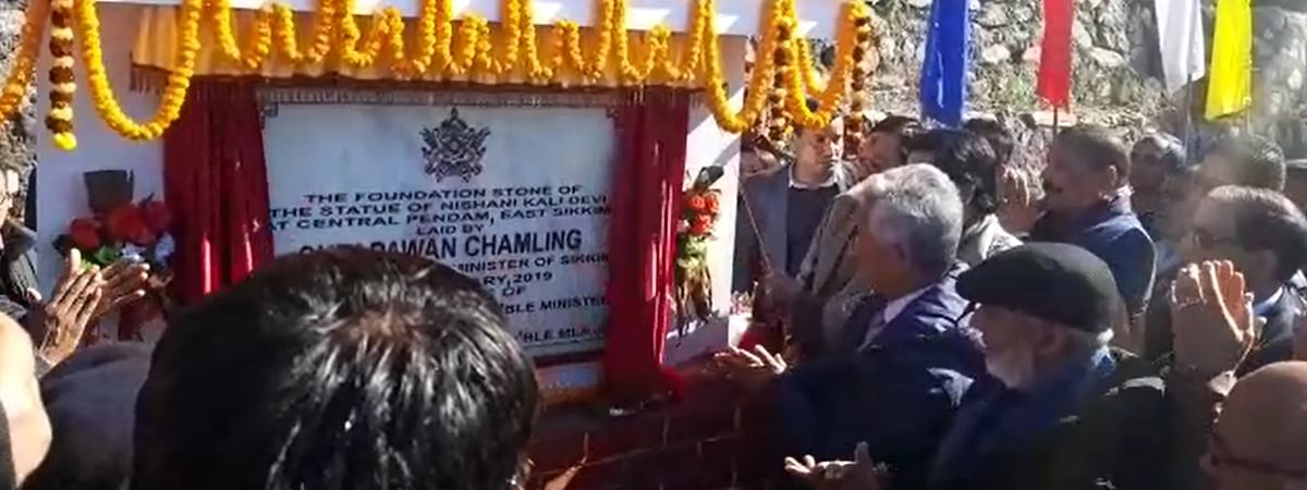 Sikkim CM Pawan Chamling inaugurated the Nishani Kali Temple at Pendam Garhi in East Sikkim on January 6
