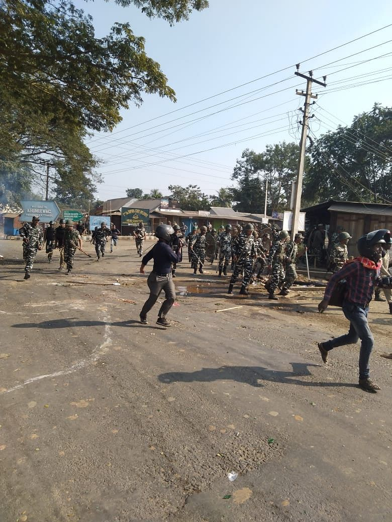 A large number of Central Reserve Police Force (CRPF) and Tripura State Rifles (TSR) troops were deployed to control the situation