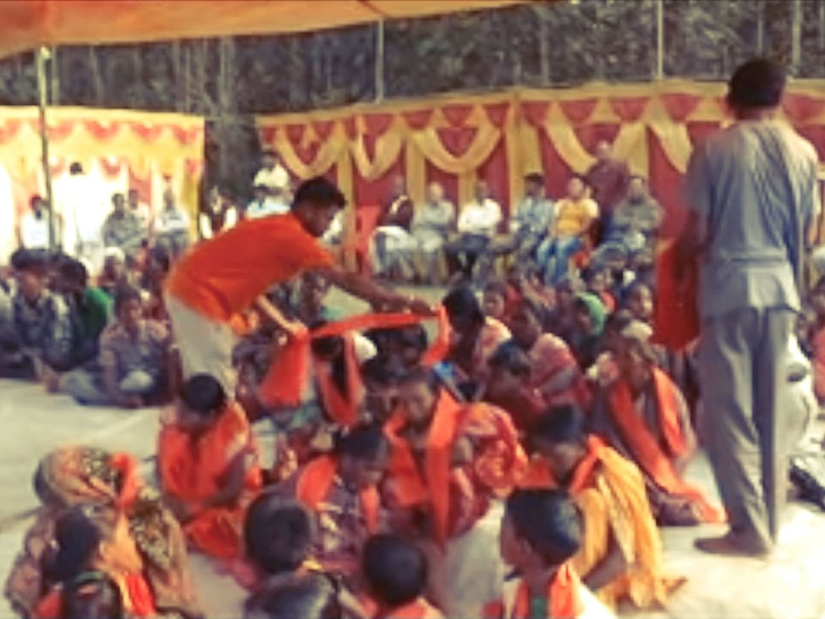 Tripura: 98 Christians 're-converted' to Hinduism in mass camp