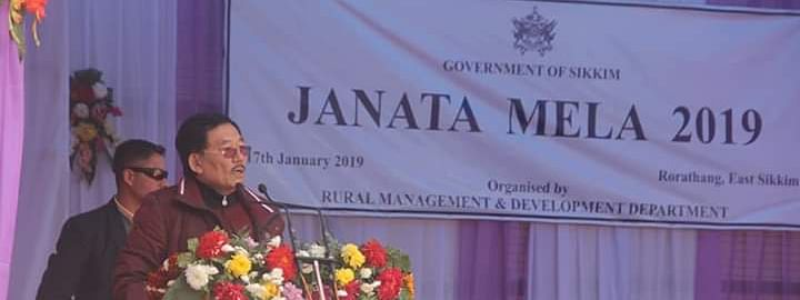 Sikkim chief minister Pawan Kumar Chamling was participating in the 2nd Janta Mela on Wednesday.