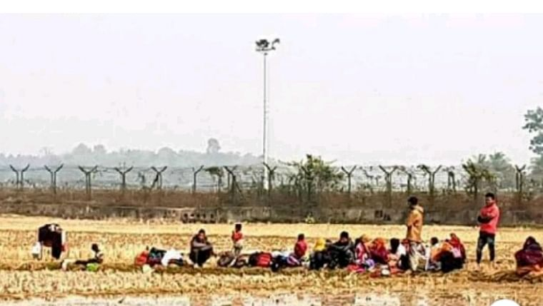 31 Rohingya Muslims, mostly children, were stranded in 'no man's land' along the Bangladesh border near West Tripura for four days before finally being detained by the BSF on Jan 22