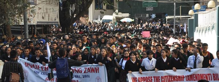 Demanding immediate scrapping of the Citizenship (Amendment) Bill 2016,  school students in large numbers took out protest rallies in different parts of the state on Wednesday.