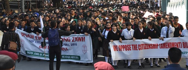 Demanding immediate scrapping of the Citizenship (Amendment) Bill 2016,  school students in large numbers took out protest rallies in different parts of the state on Wednesday