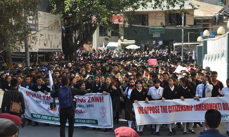 Massive protests across Mizoram against Citizenship Bill