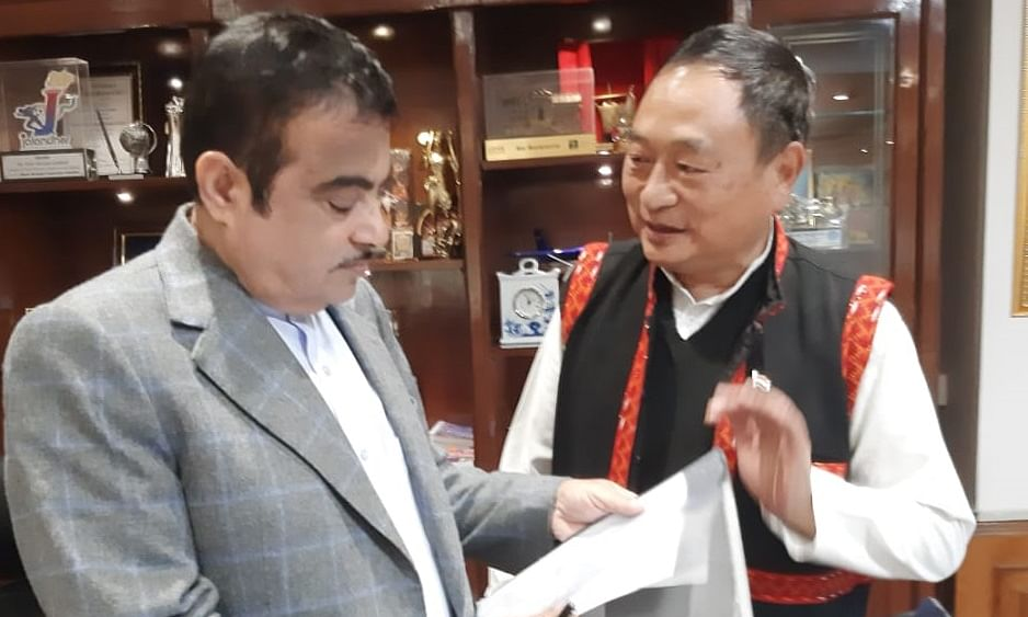 Arunachal East MP takes up strategic road project with Gadkari
