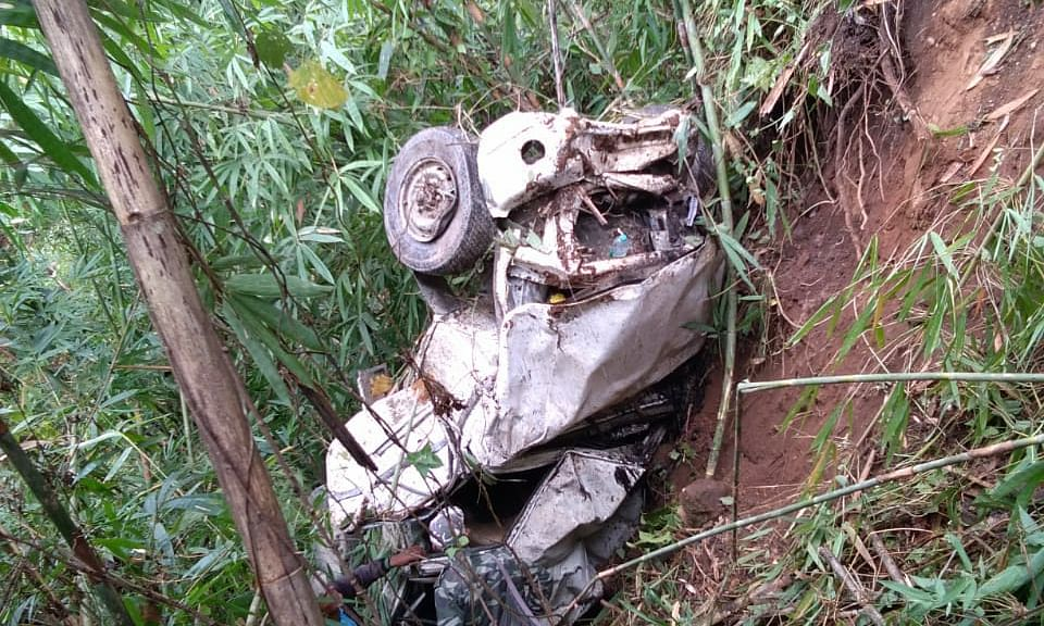 Car, part of Mizoram minister's convoy, rolls down gorge; 3 killed