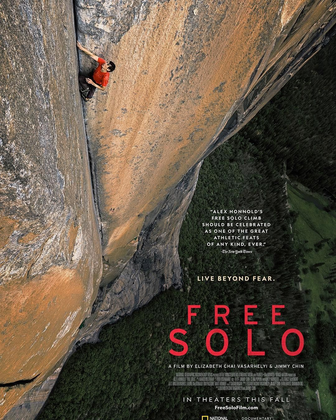 Film poster of <i>Free Solo</i>