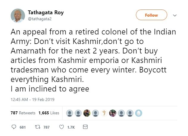 Screenshot of the controversial appeal made by Meghalaya Governor, Tathagata Roy