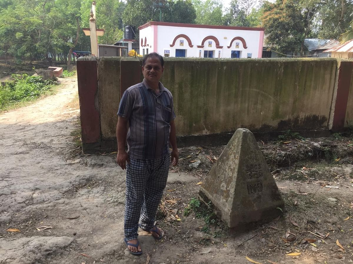 Nagar resident Abul Hussein still wishes if he could visit the old mosque behind him which falls in Bangladesh territory without having to go through the formalities every time