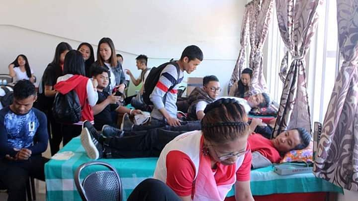 A voluntary blood donation camp being organised in Lunglei, Mizoram on the occasion of Valentine's Day on Thursday